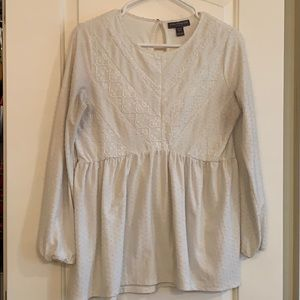 Pea in the Pod Babydoll Long Sleeve White XS